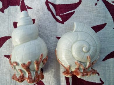 Vintage Fitz and Floyd Oceana Sea Shells Salt and Pepper Shakers